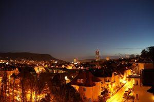 Lichtstadt Jena bei Nacht